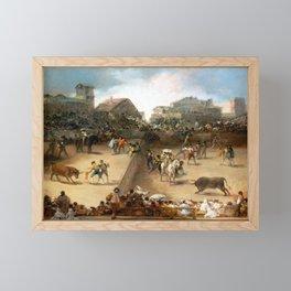 Goya Bullfight in a Divided Ring Framed Mini Art Print