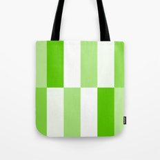 Green and White Gradient Blocks Tote Bag