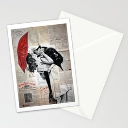 Famous kiss Stationery Cards