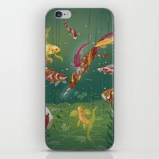 Ukiyo-e tale: The magic pen iPhone & iPod Skin