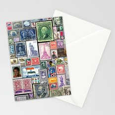 Stamps     Collage Stationery Cards