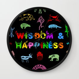Wisdom and Happiness Wall Clock