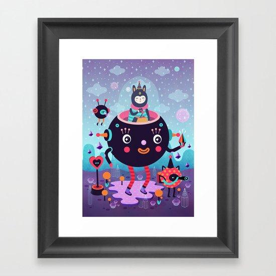 Amigos cósmicos Framed Art Print