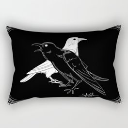 Twa Corbies Rectangular Pillow