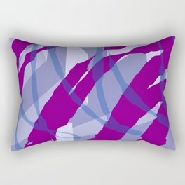 Purple Streaks & Blocks Abstract Art Rectangular Pillow