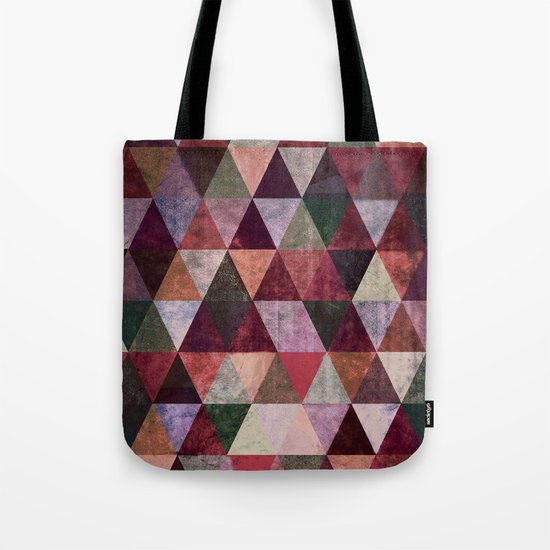 Abstract #480 Grunge Triangles #2 Tote Bag