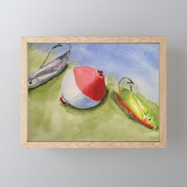 Lures of Fishing Framed Mini Art Print