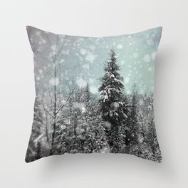 Snow Throw Pillow