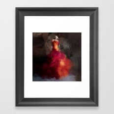 Fire dress Framed Art Print