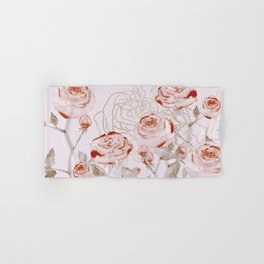 FRENCH PALE ROSES Hand & Bath Towel
