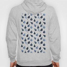 Pears pattern in cyanotype Hoody