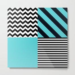 Blue B&W Metal Print