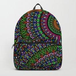 Hypnotic Church Window Mandala Backpack