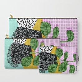 Decent - memphis retro neon throwback illustration pop art houseplant socal urban kids trendy art Carry-All Pouch