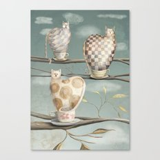 Cats in Cups Canvas Print