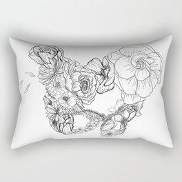 Pelvic Flora Rectangular Pillow
