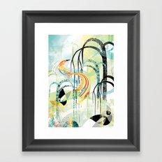 Fire Bird Framed Art Print