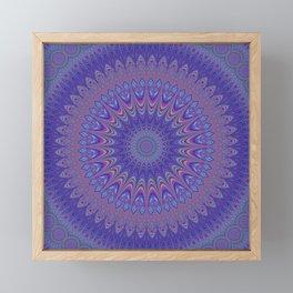 Purple mandala Framed Mini Art Print