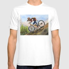 Grounded White Mens Fitted Tee MEDIUM