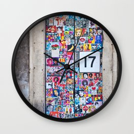 The Secret behind the Door Number 17 of Catania - Sicily Wall Clock
