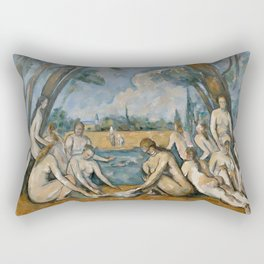 Paul Cezanne - The Large Bathers Rectangular Pillow