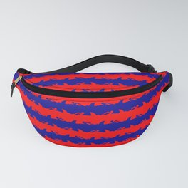 Australian Flag Blue and Red Shark Attack Stripes Fanny Pack