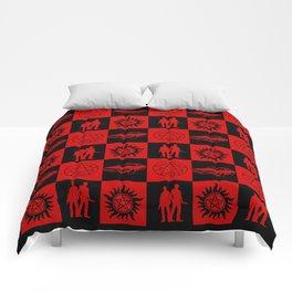 SPN Hunter Checkers Comforters