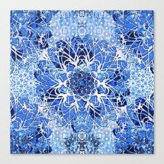Sapphire Crochet Mandala Canvas Print
