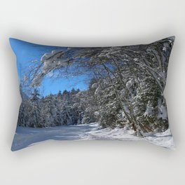 A Trail In The Snow Rectangular Pillow
