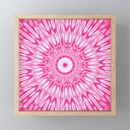 Pink Kaleidoscope Framed Mini Art Print