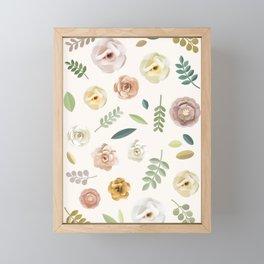 Bohemian Flowers Illustration Framed Mini Art Print