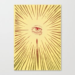 The Man With The Golden Eyeball Canvas Print