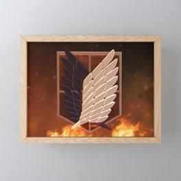 Attack On Titan Logo Framed Mini Art Print