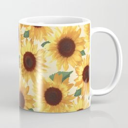 Happy Yellow Sunflowers Coffee Mug