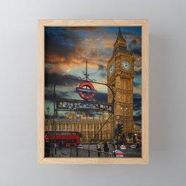 Big Ben London City Framed Mini Art Print