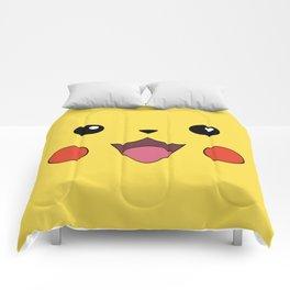 Pika Chu Face Comforters