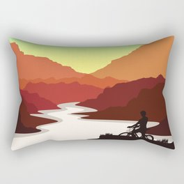 Mountain Bike Rectangular Pillow