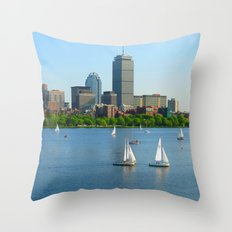 Boston in the Summer Throw Pillow