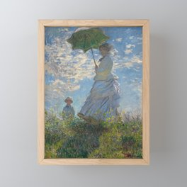 The Walk, Woman with a Parasol by Claude Monet Framed Mini Art Print