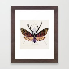 Death's Antlers Hawk Moth Framed Art Print