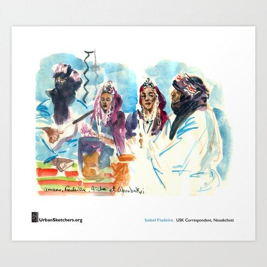"Isabel Fiadeiro, ""Singing About Exile, Touaregs"" Art Print"