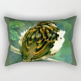 Sparrow in Puriri Tree Rectangular Pillow