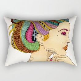 Take a deep breath then move on Rectangular Pillow