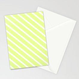 Lemongrass Diagonal Stripes Stationery Cards