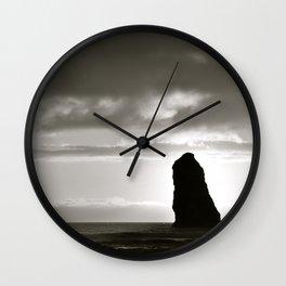 Cannon Beach Black & White 2 Wall Clock