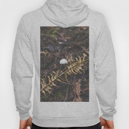 White Mushroom on Forest Floor Hoody