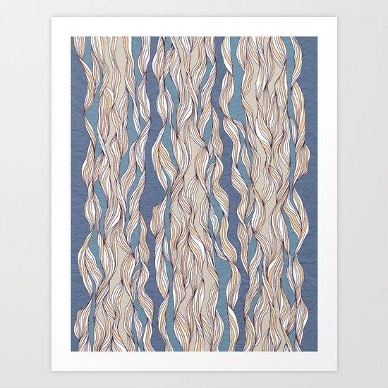 Wavy pattern Art Print