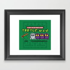 Hero in a Pac-Shell (Mikey) Framed Art Print