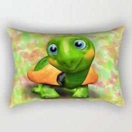 Green Turtle Baby 3D Rectangular Pillow