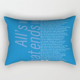 William Shakespeare Quote 3 – All's well that ends well Rectangular Pillow